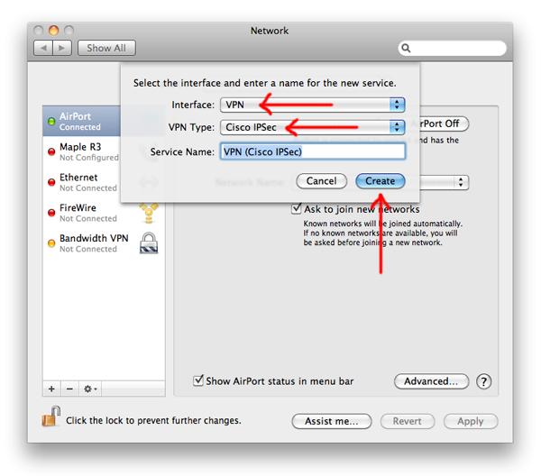 Cisco vpn client mac os